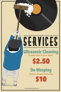 Services - Ultrasonic Cleaning ($2.50) & Dewarping ($10)