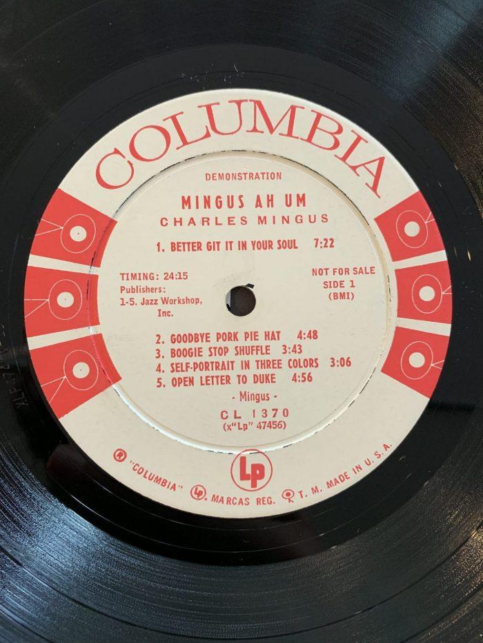 White Label Promo Charles Mingus